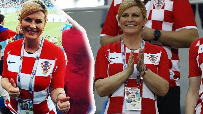 Prancis vs Kroasia - Kolinda Grabar-Kitarovića Juru Gedor Semangat Luka Modrić Cs