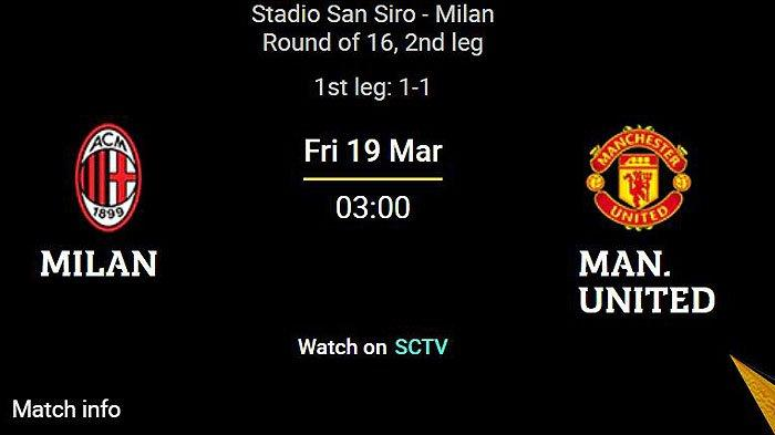 Line Up AC MILAN vs MU Live Streaming SCTV Liga Eropa - Ibra Cadangan, Saelemaekers Ujung Tombak