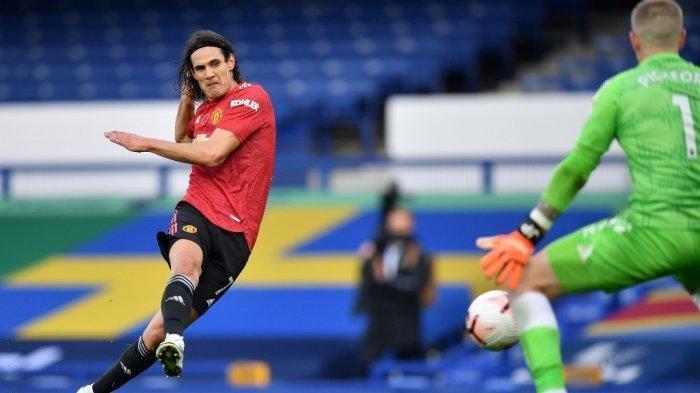 LIGA INGGRIS - Striker Manchester United asal Uruguay Edinson Cavani