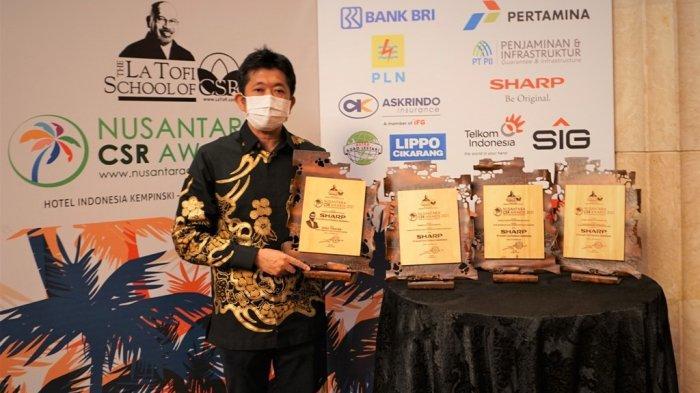 Presiden Direktur Sharp Indonesia Sabet Penghargaan di Ajang Nusantara CSR Award 2021