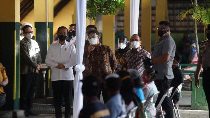 Presiden Jokowi Tinjau Pelaksanaan Vaksinasi Tahap Dua di DI Yogyakarta