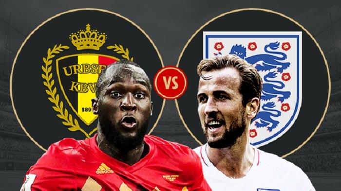 Hasil BABAK I: Belgia 1-0 Inggris