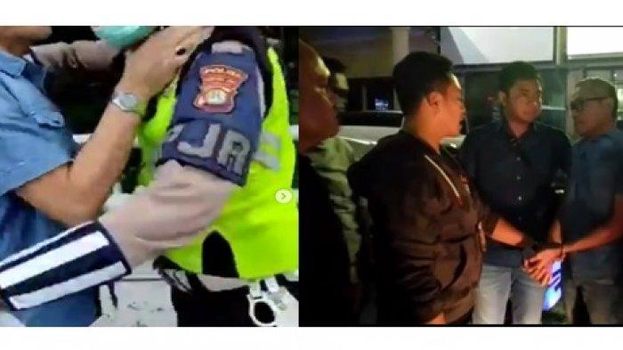Fakta Di Balik Video Viral Pria Dorong dan Cekik Polisi : Pelaku Ditangkap