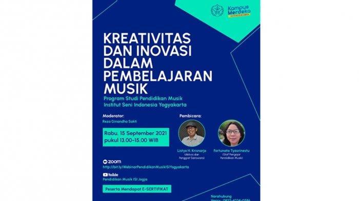 Prodi Pendidikan Musik ISI Yogyakarta Gelar Workshop dan Inovasi dalam Pembelajaran Musik