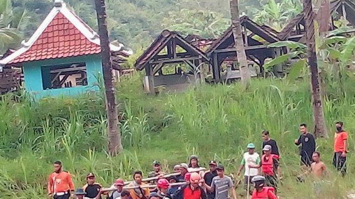 BREAKING NEWS: Jasad Korban Hanyut di Sungai Kalongan Panggang Gunungkidul Berhasil Ditemukan