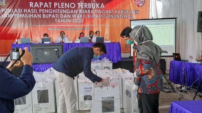 Proses Lancar, KPU Gunungkidul Optimis Rekapitulasi Pilkada Selesai Hari Ini