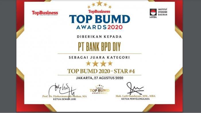 BPD DIY Raih Penghargaan Bergengsi TOP BUMD Awards