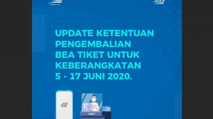 PT KAI Perpanjang Pengembalian Uang Tiket hingga 17 Juni 2020