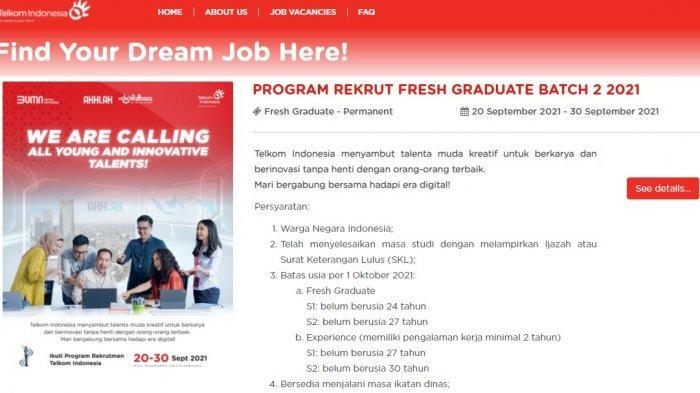 PT Telkom Buka Lowongan Kerja untuk Lulusan S1 dan S2, Pendaftaran di rekrutmen.telkom.co.id