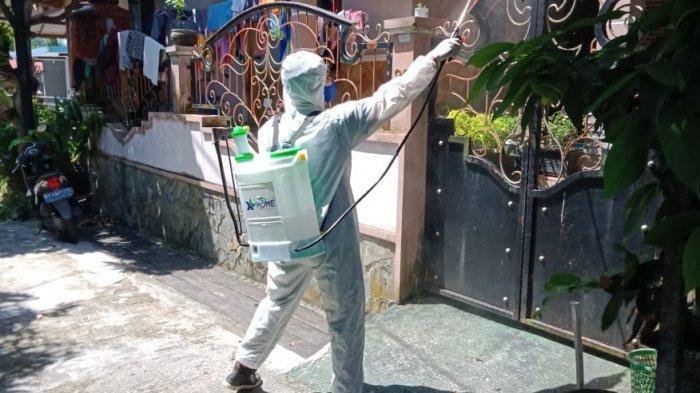 XL Axiata Bantu Semprot Disinfektan Perumahan di Yogyakarta