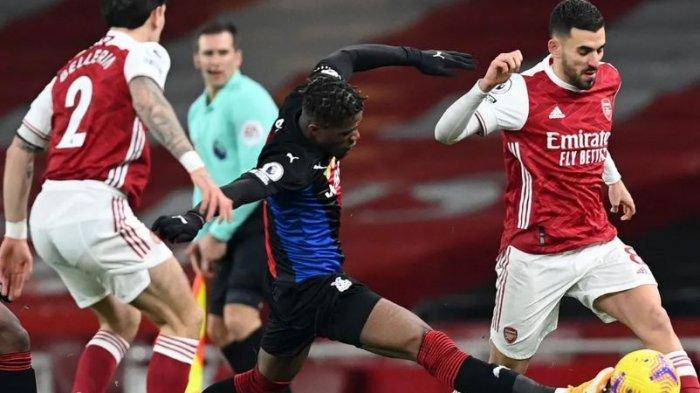 Kemenangan tiga pertandingan beruntun Arsenal di Liga Inggris berakhir saat mereka bermain imbang 0-0 dengan Crystal Palace di Emirates Stadium, Jumat (15/1/2021).