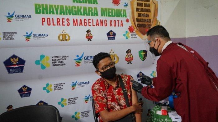 Ratusan Pekerja di Kota Magelang Dapatkan Vaksinasi Gratis