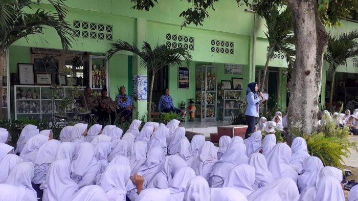 Ratusan Siswa SMP di Bantul, Ikuti Sosialisasi Pencegahan Virus Corona