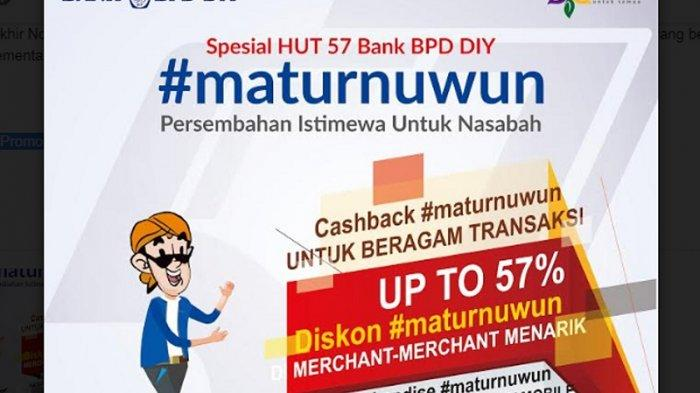 Rayakan Hari Jadi, Bank BPD DIY Berikan Diskon hingga 57 Persen di Merchant Tertentu
