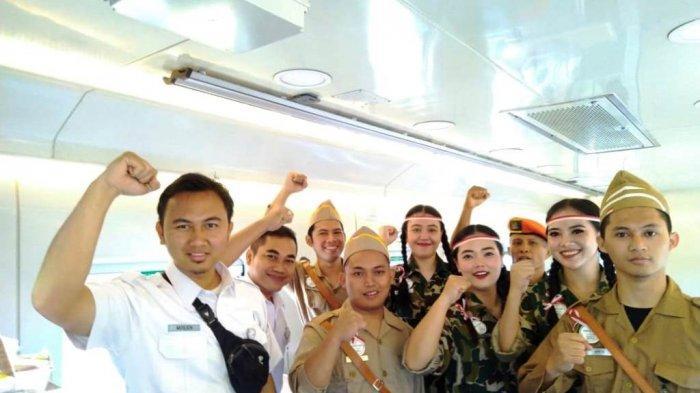 Rayakan Kemerdekaan, PT KAI Ajak Penumpang Menyanyikan Lagu Indonesia Raya di Kereta
