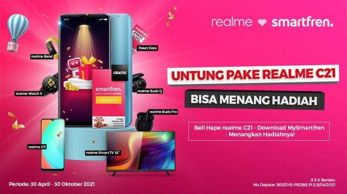 Pakai Smartfren di Realme C21 Dapat Bonus Kuota 384 GB dan Berkesempatan Menang Smart TV