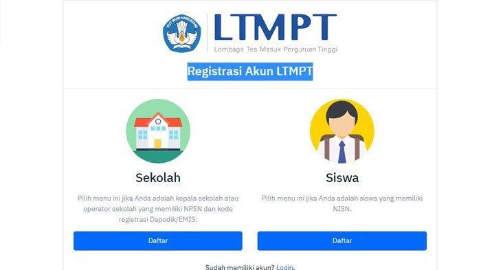 Link Registrasi Akun Ltmpt Di Portal Ltmpt Ac Id Untuk Daftar Snmptn Utbk Dan Sbmptn 2020 Tribun Jogja