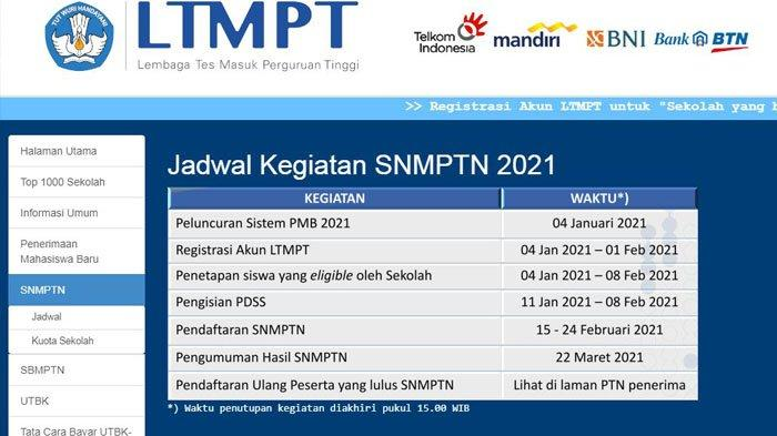 Login Portal Ltmpt Ac Id Gunakan Akun Ltmpt Untuk Daftar Utbk Dan Snmptn 2021 Tribun Jogja