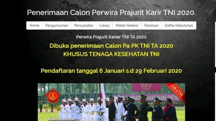 Rekrutmen Prajurit TNI Karir 2020 untuk Lulusan D3, D4, dan S1 Kesehatan