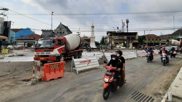 Proyek Revitalisasi Jalan Terus, Wisatawan Diminta Tidak Melintasi Kawasan Tugu