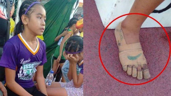 Tanpa Sepatu, Pelari Cilik Filipina Raih 3 Medali Emas