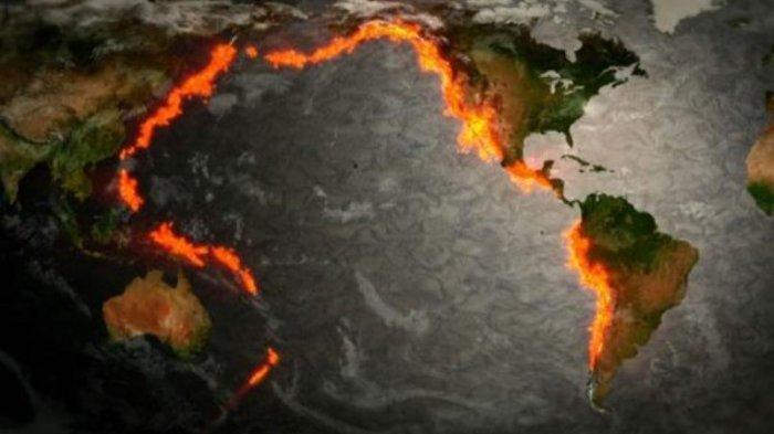 Zona subduksi Ring of Fire atau Cincin Api