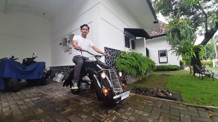 Pemuda Yogyakarta Ciptakan Motor Mini Unik Bergaya Klasik dari Bahan Bekas
