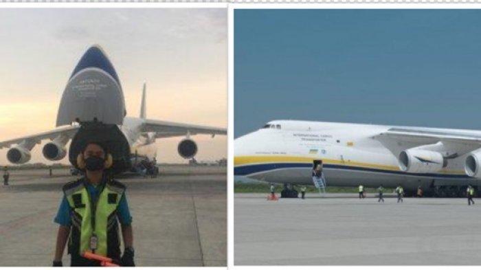 Cerita Rizky Dwi Septiandi, Marshall Bandara YIA Kulonprogo saat Memandu Pendaratan Pesawat Antonov