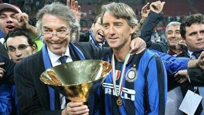 Roberto Mancini saat membawa Inter Milan meraih Scudetto Liga Italia Serie A musim 2007-2008