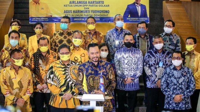 Sambagi Airlangga, AHY Ingin Demokrat dan Partai Golkar Koalisi di Pilkada Serentak 2020