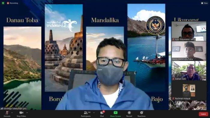 Sandiaga Uno : Kemenparekraf Butuh Dukungan Media untuk Kembangkan Pariwisata Indonesia