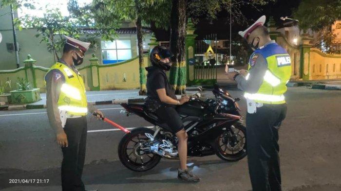 Satlantas Polres Kulon Progo Jaring 8 Ranmor dalam Ops Yustisi Antisipasi Balap Liar