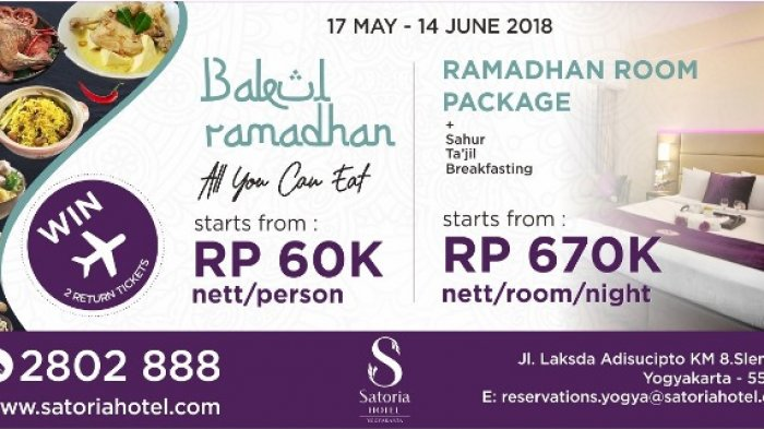 Satoria Hotel Tawarkan Promo Berbuka Puasa Berhadiah Tiket Pesawat Yogya Bali Tribun Jogja
