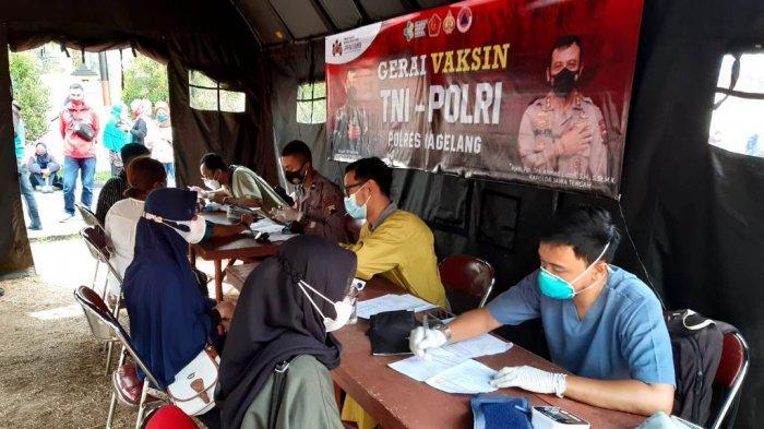Sebanyak 1.674 Orang Ikuti Vaksinasi Merdeka Candi Polres Magelang