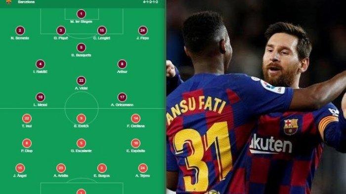 Sedang Berlangsung Link Live Streaming Bein Sport 1 Barcelona Vs Eibar Line Up Tribun Jogja