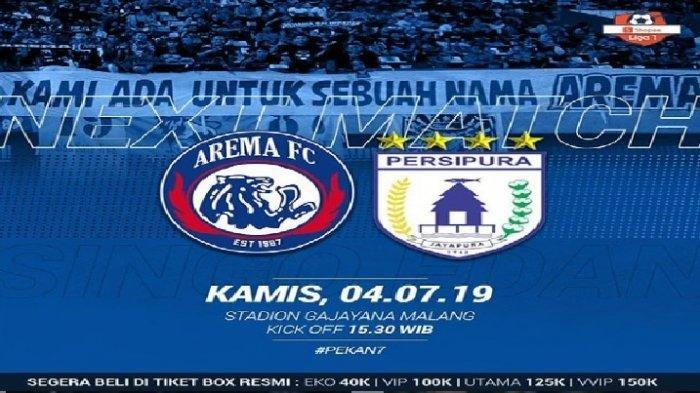 Streaming Arema FC vs Persipura Jayapura Liga 1 2019 Live Indosiar