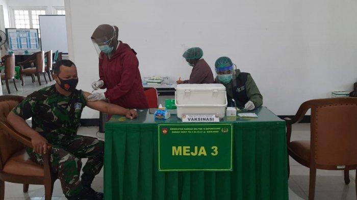Ratusan Personel Kodim 0705/Magelang Sudah Divaksin Covid-19