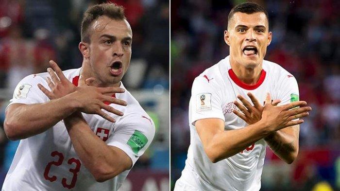 Fans Swiss Galang Dana untuk Bayar Denda Shaqiri, Xhaka, dan Stephan Lichtsteiner