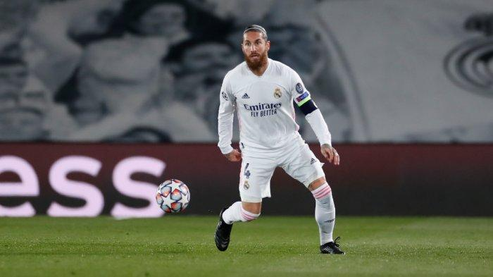 Sergio Ramos saat Real Madrid vs Borussia Monchengladbach di Liga Champions