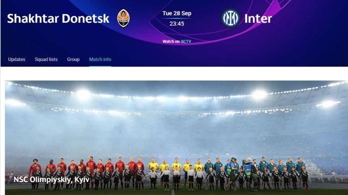 LIGA CHAMPIONS: Shakhtar Donetsk dan Inter Milan Berburu Kemenangan Pertama