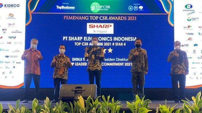 Sharp Indonesia Dianugerahi Top CSR Awards 2021& Indonesia Green Award 2021