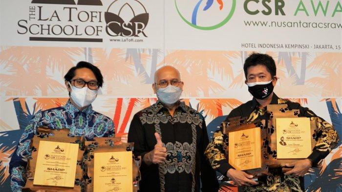 Sharp Indonesia Borong 4 Penghargaan di Ajang Nusantara CSR Awards 2021