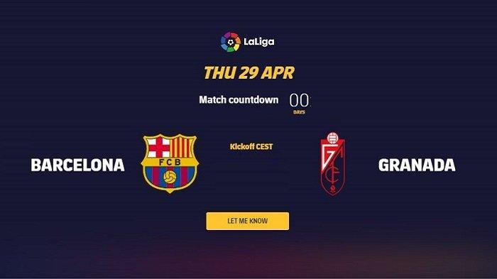Live Streaming BeIN SPORTS 1 Liga Spanyol BARCELONA vs GRANADA - Line Ups
