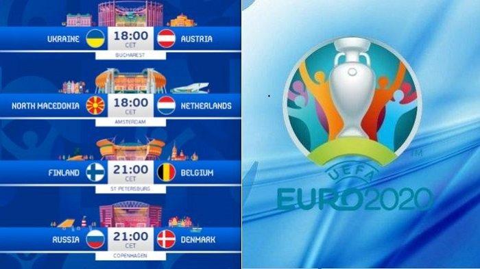 Siaran Langsung EURO Senin Malam hingga Selasa Dini Hari Ini Tayang di Channel TV RCTI MNCTV MolaTV