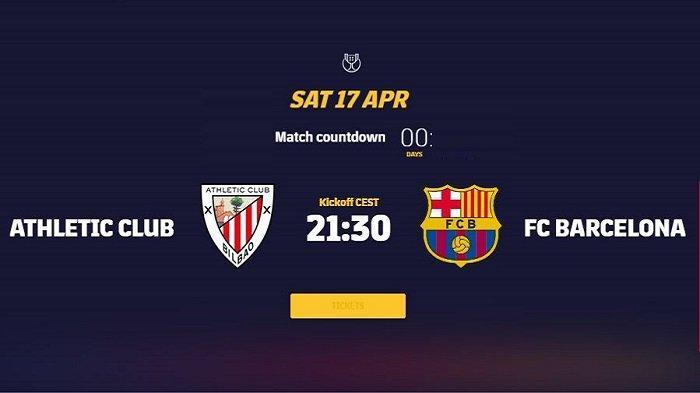 Siaran Langsung Final Copa del Rey ATHLETIC BILBAO vs BARCELONA Malam Ini Tayang di Channel TV Apa