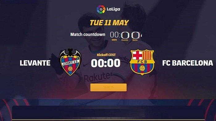 Siaran Langsung Liga Spanyol LEVANTE vs BARCELONA Tayang di Channel TV Ini - Skuad & Prediksi Skor