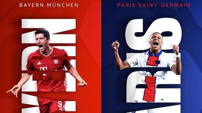 Siaran Langsung & Live Streaming SCTV Liga Champions BAYERN MUNCHEN vs PSG - Tanpa Lewandowski