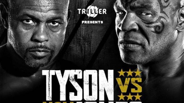 Hasil Timbang Berat Badan Mike Tyson vs Roy Jones Jr