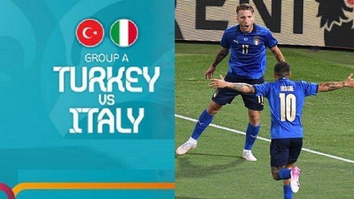 Siaran Langsung Piala Eropa (EURO) 2020 TURKI vs ITALIA Malam Ini Tayang di Channel Tv Partner Ini