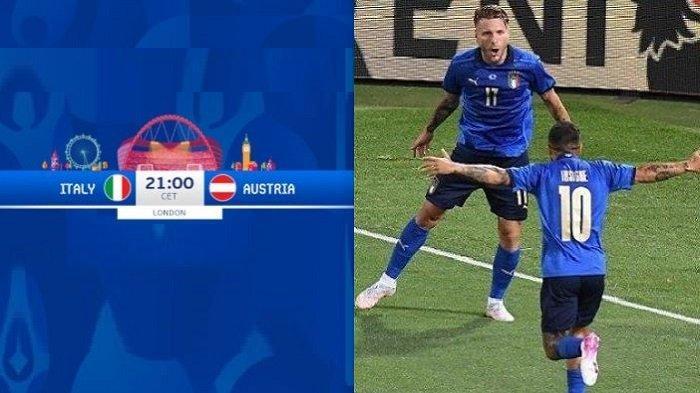 Siaran Langsung Piala Eropa ITALIA vs AUSTRIA di Channel TV Live Streaming RCTI MolaTV EURO 2020